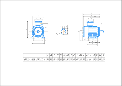 Электродвигатель ABB 30кВт - схема