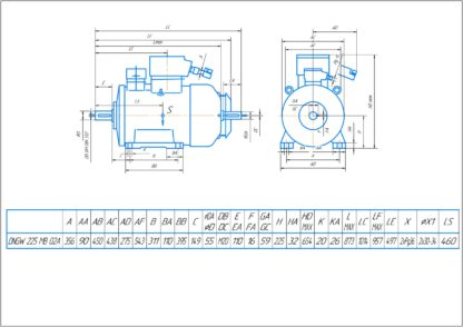 Электродвигатель LOHER 45 кВт схема