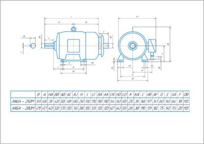 Электродвигатель LOHER 90 кВт - схема